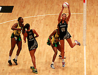 17.1.2014 New Zealand's Irene Van Dyk in action against Jamaica during their netball test match in London, England. Mandatory Photo Credit (Pic: Tim Hales). ©Michael Bradley Photography.