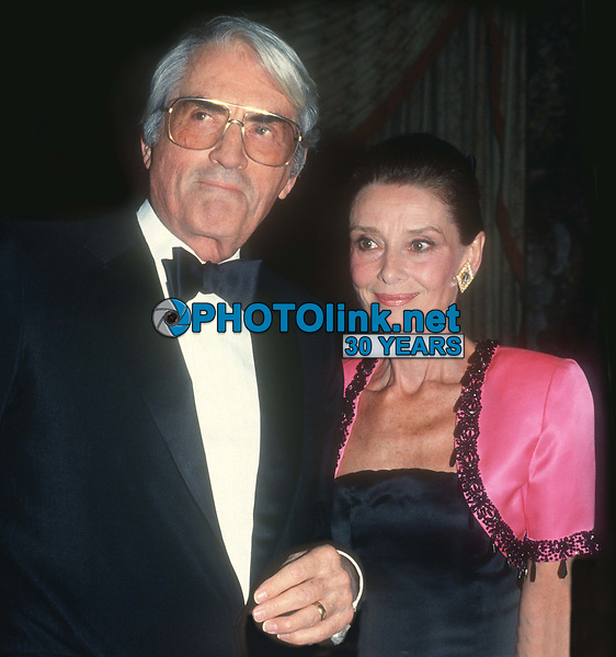 Gregory Peck and Audrey Hepburn 1988<br /> Photo By John Barrett/PHOTOlink