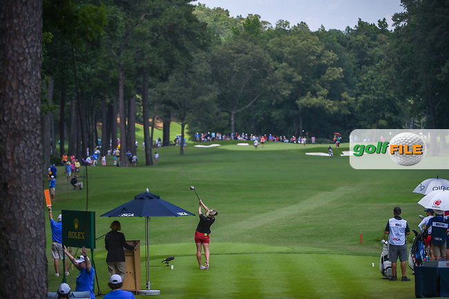 Charley Hull (ENG) watches her tee shot on 10 during round 3 of the U.S. Women's Open Championship, Shoal Creek Country Club, at Birmingham, Alabama, USA. 6/2/2018.<br /> Picture: Golffile | Ken Murray<br /> <br /> All photo usage must carry mandatory copyright credit (© Golffile | Ken Murray)