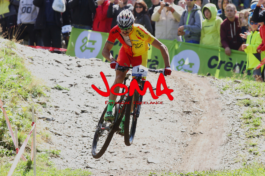05.09.2015 La Massana Andorra. 201 UCI Mountain Bike World Champions.Picture show Coloma Nicolas Carlos(ESP) in action during Men ELite Cross-country Olympic World Champions