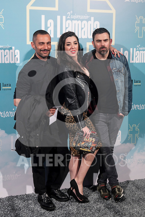 Nancys Rubias attend La Llamada theater play in Madrid, Spain. April 15, 2015. (ALTERPHOTOS/Victor Blanco)