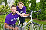 Padraig Hallissey who is cycling in the ring of Kerry cycle on Saturday for Acquired Brain injury Ireland pictured here with Sandra Fitzgerald his rehabilitation assistant