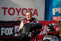 Feb 23, 2020; Chandler, Arizona, USA; NHRA top fuel driver Doug Kalitta during the Arizona Nationals at Wild Horse Pass Motorsports Park. Mandatory Credit: Mark J. Rebilas-USA TODAY Sports