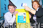 DISPOSE CAREFULLY: Peter Harty and Rachel Tadier disposing of unused and outdated medicines at CH Chemists in Tralee on Tuesday. The new initiative is led by the Heath Service Executive.
