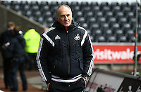 Swansea City Manager Francesco Guidolin  arrives before the Barclays Premier League match between Swansea City and Liverpool played at the Liberty Stadium, Swansea on 1st May 2016