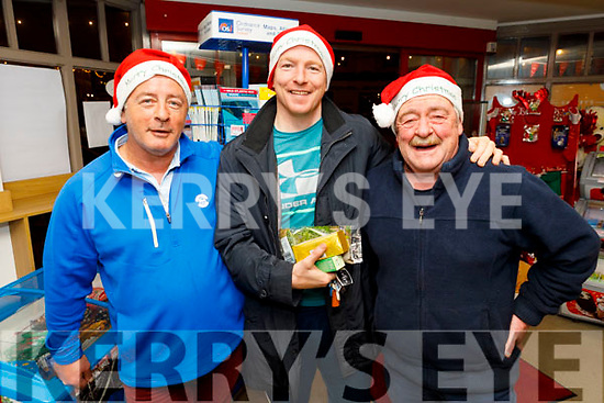 David Heaton, Dave O'Connor and John L O'Sullivan from Dingle shopping in Garveys Supervalu in Dingle on Thursday.