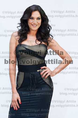 Photoshoot media event of the fashion brand Sugarbird with Hungarian celebrity Zita Debreczeni posing both as model and photographer in Budapest, Hungary on August 31, 2011. ATTILA VOLGYI