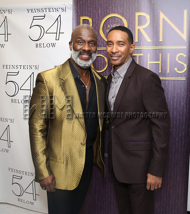 "BeBe Winans and Charles Randolph-Wright backstage after a Song preview performance of the Bebe Winans Broadway Bound Musical ""Born For This"" at Feinstein's 54 Below on November 5, 2018 in New York City."