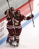 Makenna Newkirk (BC - 19), Kristyn Capizzano (BC - 7) - The Boston College Eagles defeated the Boston University Terriers 3-2 in the first round of the Beanpot on Monday, January 31, 2017, at Matthews Arena in Boston, Massachusetts.