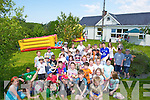 BBQ: On Sunday the Parents and friends of Blennerville NS who held a walk and fun day at Curraheen Church, to raise funds by putting on Bouncing Castle, Face painting, G ames and a Bar-B-Que.