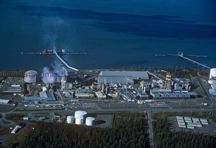UNOCAL Ammonia Urea Plant on Kenai Peninsula, Alaska, USA..
