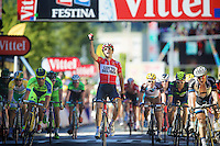 victory for Tony Gallopin (FRA/Lotto-Belisol)<br /> <br /> 2014 Tour de France<br /> stage 11: Besançon - Oyonnax (187km)