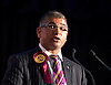 Sarinder Joshua Duroch, Gravesham candidate<br /> Pictured during a UKIP rally in Westminster where party leader Nigel Farage addressed party members on race issues. on 7th May 2014