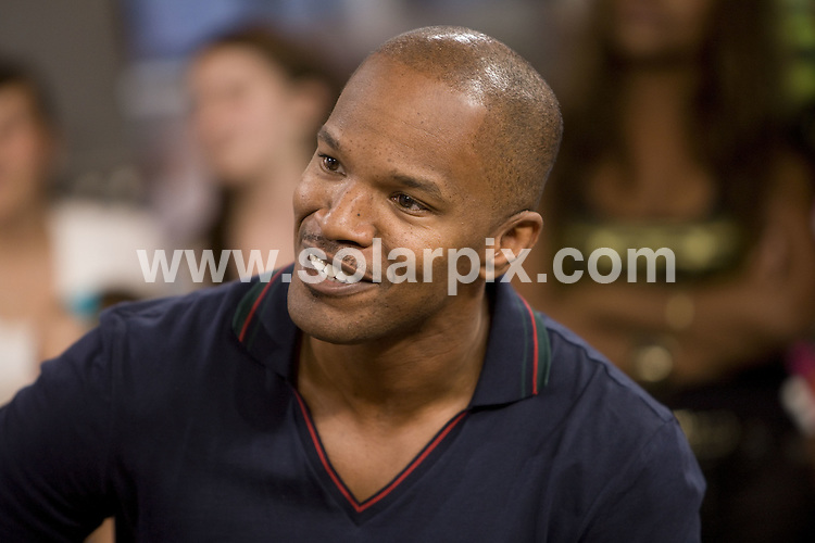 **ALL ROUND PICTURES FROM SOLARPIX.COM**.**SYNDICATION RIGHTS FOR UK, AUSTRALIA, DENMARK, PORTUGAL, S. AFRICA, SPAIN & DUBAI (U.A.E) ONLY**.Jamie Foxx visits the TV show MuchOnDemand at CTV Queen Street Headquarters, Toronto, Canada. 10 August 2009..This pic: Jamie Foxx..JOB REF: 9736 PHZ (Wong)   DATE: 10_08_2009.**MUST CREDIT SOLARPIX.COM OR DOUBLE FEE WILL BE CHARGED**.**MUST NOTIFY SOLARPIX OF ONLINE USAGE**.**CALL US ON: +34 952 811 768 or LOW RATE FROM UK 0844 617 7637**