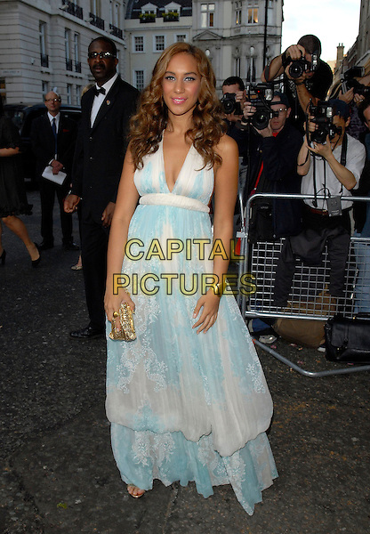 LEONA LEWIS.Arrivals at the 4th Annual Glamour Women Of The Year Awards, Berkely Square Gardens, London, England. .June 5th 2007.full length long maxi dress pale green white lace patterned .CAP/FIN.©Steve Finn/Capital Pictures