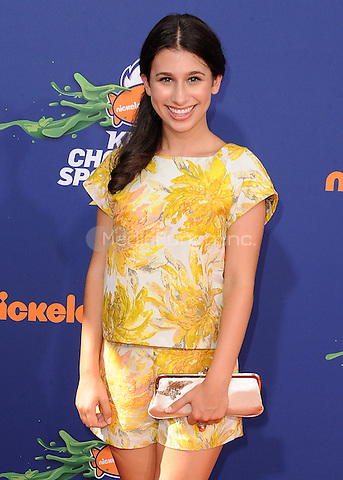 LOS ANGELES, CA - JULY 16:  Zoey Burger at the Nickelodeon Kids Choice Sports 2015 at the Pauley Pavilion on July 16, 2015 in Los Angeles, California. Credit: PGSK/MediaPunch