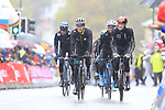 Riders including Daryl Impey (RSA) tackle the 9 laps of the Harrogate circuit during the Men Elite Road Race of the UCI World Championships 2019 running 261km from Leeds to Harrogate, England. 29th September 2019.<br /> Picture: Eoin Clarke | Cyclefile<br /> <br /> All photos usage must carry mandatory copyright credit (© Cyclefile | Eoin Clarke)