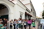 CORAL GABLES, FL - FEBRUARY 05: Exterior view of fans waiting in a line to meet actor/author Keegan Allen meets, greets fans and signs copies of his book 'Life. Love. Beauty' at Books and Books on Thursday February 5, 2015 in Coral Gables, Florida. (Photo by Johnny Louis/jlnphotography.com)