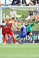 Boyds, MD - Saturday August 12, 2017: Adriana Leon, DiDi Haracic during a regular season National Women's Soccer League (NWSL) match between the Washington Spirit and The Boston Breakers at Maureen Hendricks Field, Maryland SoccerPlex.