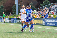Allston, MA - Wednesday Sept. 07, 2016: Jessica McDonald, Kyah Simon during a regular season National Women's Soccer League (NWSL) match between the Boston Breakers and the Western New York Flash at Jordan Field.