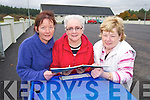 FUNDING: DEVELOPMENTS: Bridie Dillon, Kitty O'Connell and Betty O'Rourke,  of the Lyreacrompane Community and Development Company who have allocated EUR38,000 for the development of the Lyreacrompane Community Centre.   Copyright Kerry's Eye 2008