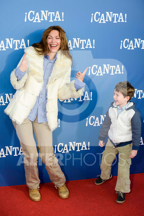 "Cristina Piaget attends to the premiere of the film ""¡Canta!"" at Cines Capitol in Madrid, Spain. December 18, 2016. (ALTERPHOTOS/BorjaB.Hojas)"