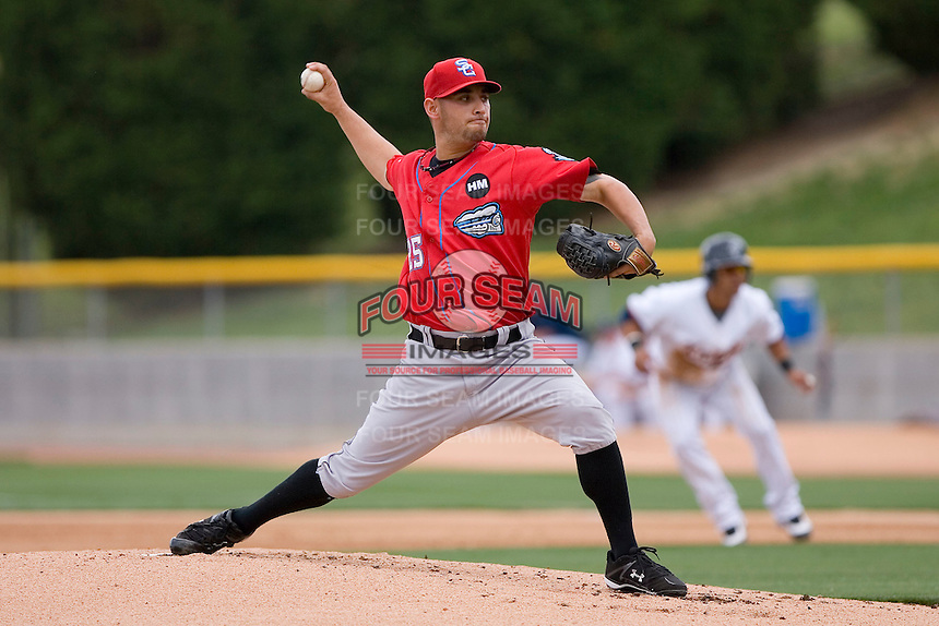 Starting pitcher Marco Estrada #25 of the Syracuse Chiefs in action versus the Charlotte Knights at Knights Castle May 3, 2009 in Fort Mill, South Carolina. (Photo by Brian Westerholt / Four Seam Images)