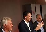 "Madrid,Spain - 16 10 2014- ""politics""-Former Spanish Socialist Leader Felipe Gonzalez(left) beside Spanish Socialist Leader Pedro Sanchez(center) and Alfonso Guerra(right) during at the 40th anniversary ceremony of the Congress of Suresnes (Foto: Guillermo Martinez /Bouza Press)"