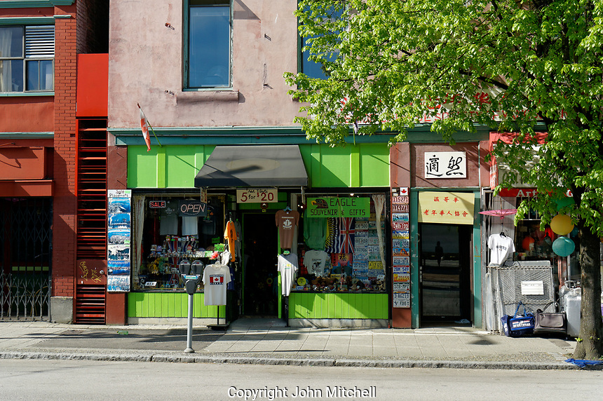 Souvenir store on Pender street in Chinatown, Vancouver, British Columbia, Canada