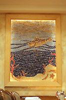 Captain George's custom mosaic fish panel made in Oceanside glass located in Virginia Beach, VA