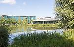 Landscaped grounds of Reading International Business Park, Reading, Berkshire, England, UK