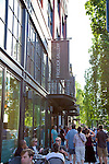 On the first Thursday of every month, art galleries in Portland hold receptions and stay open later in the evening to launch their new shows.  The galleries are primarily located in the Pearl District, but independent artists set up in the streets around the Pacific Northwest College of Art.  Art Galleries and the Museum of Contemporary Crafts are housed in the Pearl District's DeSoto Building