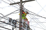 JCP&L Crews work on restoring power in Chatham, New Jersey