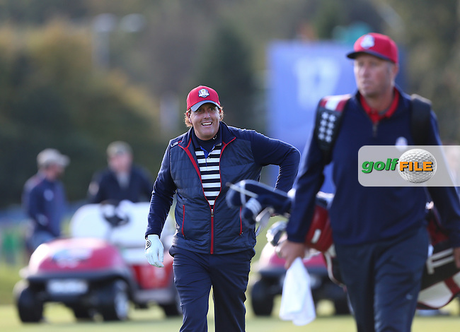 Phil Mickelson (USA) during the 2014 Ryder Cup from Gleneagles, Perthshire, Scotland. Picture:  David Lloyd / www.golffile.ie