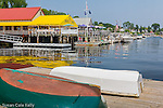 Dennett's Wharf on the waterfront in Castine, Maine, USA