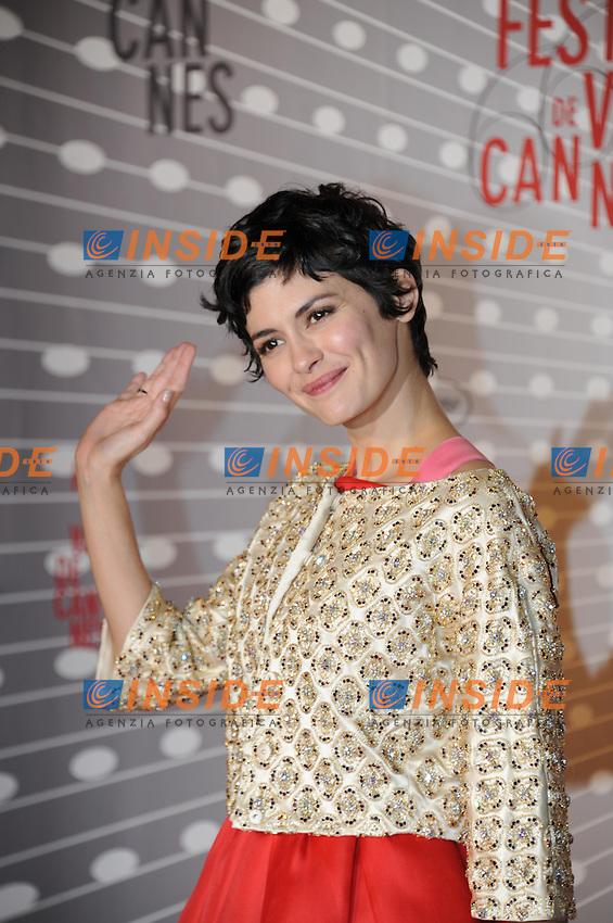 Audrey Tautou .Cannes 26/5/2013.Festival del Cinema di Cannes.Giornata di chiusura e premi .Foto Panoramic / Insidefoto .ITALY ONLY