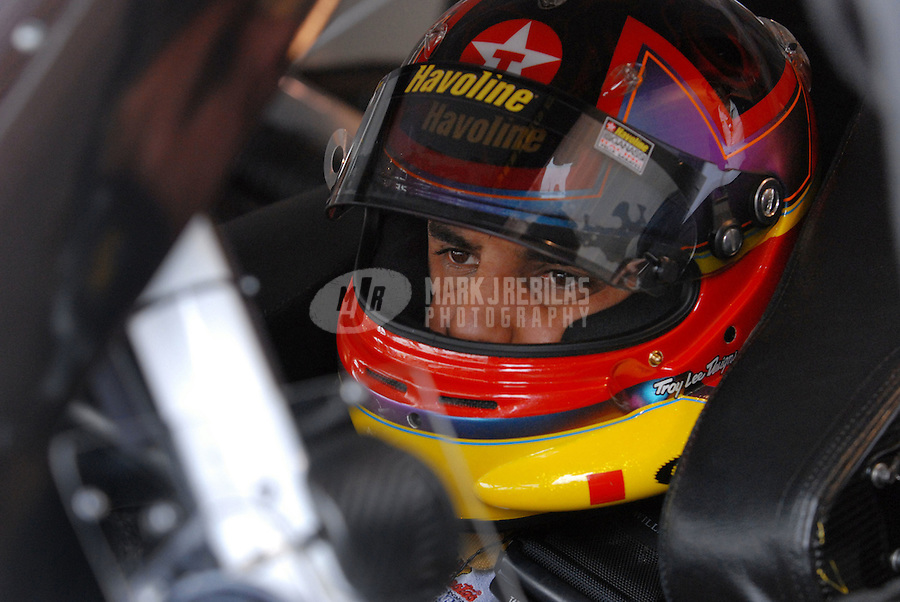 Mar 31, 2007; Martinsville, VA, USA; Nascar Nextel Cup Series driver Juan Pablo Montoya (42) during practice for the Goody's Cool Orange 500 at Martinsville Speedway. Martinsville marks the second race for the new car of tomorrow. Mandatory Credit: Mark J. Rebilas