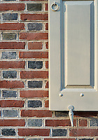 Colonial house detail.