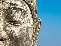 Budha against a blue sky