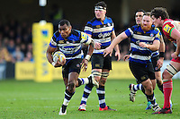 Semesa Rokoduguni of Bath Rugby goes on the attack. Aviva Premiership match, between Bath Rugby and Harlequins on February 18, 2017 at the Recreation Ground in Bath, England. Photo by: Patrick Khachfe / Onside Images