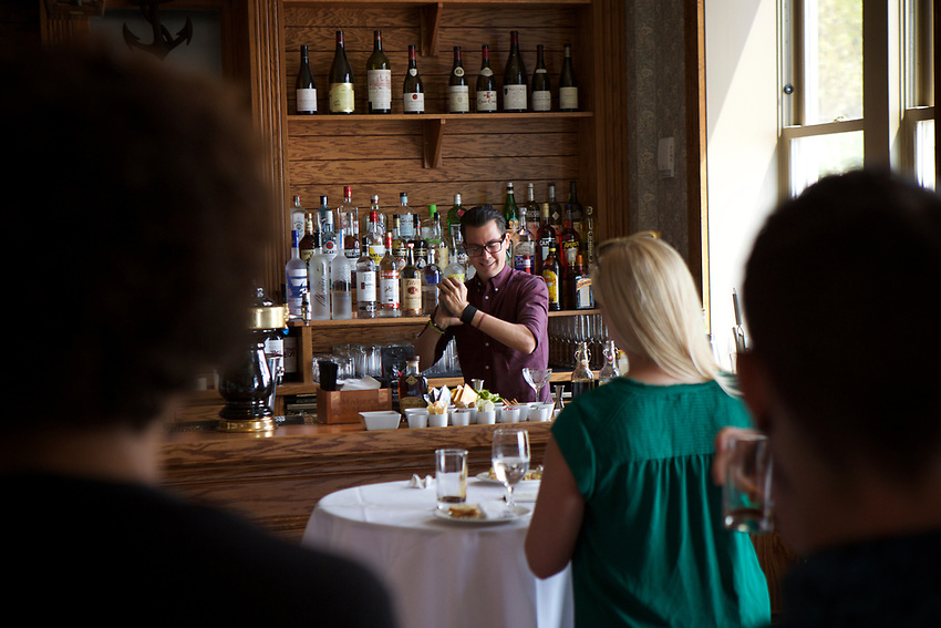 New York, NY - August 8, 2017: A Fall Cocktail Workshop at Pier A Harbor House. Hosted by Edible Collective, the event provided bartenders with spirits and new techniques to experiment with while developing recipes for seasonal cocktails.<br /> <br /> <br /> Credit: Clay Williams for Edible Manhattan.<br /> <br /> &copy; Clay Williams / http://claywilliamsphoto.com