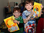 Daniel and William Nutley at the Easter Craft Workshop in Drogheda Library.<br /> <br /> Photo: Jenny Matthews