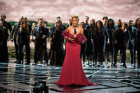 Oscar&reg; nominee for Best Original Song, Mary J. Blige performs live at The 90th Oscars&reg; at the Dolby&reg; Theatre in Hollywood, CA on Sunday, March 4, 2018.<br /> *Editorial Use Only*<br /> CAP/PLF/AMPAS<br /> Supplied by Capital Pictures