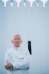 Paul Bowles in Tanger, 1987.