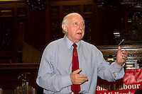 Socialist Case Against the EU meeting Birmingham 16th June 2016,<br /> Arthur Scargill, SLP Leader, Neil Barrington as Chair, John Tyrrell SLP President