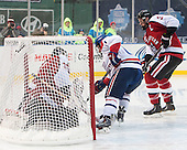 Clay Witt (NU - 31), Stephen Buco (UML - 11), Josh Manson (NU - 3) - The Northeastern University Huskies defeated the University of Massachusetts Lowell River Hawks 4-1 (EN) on Saturday, January 11, 2014, at Fenway Park in Boston, Massachusetts.
