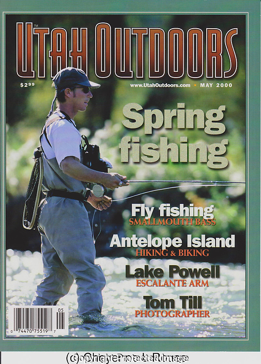 Utah Outdoors Magazine<br /> Fly fishing cover