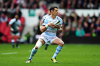 Dan Carter of Racing 92 in possession. European Rugby Champions Cup semi final, between Leicester Tigers and Racing 92 on April 24, 2016 at The City Ground in Nottingham, England. Photo by: Patrick Khachfe / JMP