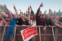 Pictured: Manic Street Preachers fans. Saturday 29 June 2019<br /> Re: Manic Street Preachers concert at Cardiff Castle, south Wales, UK.
