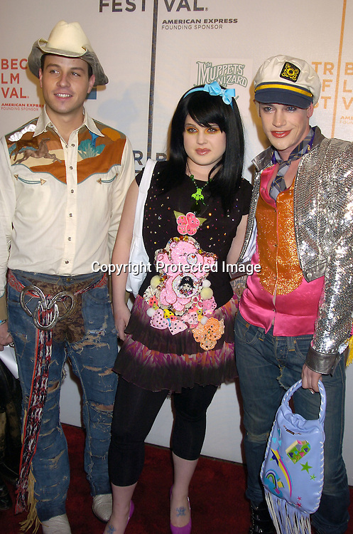 "Kelly Osbourne and the designers from Heatherette ..at the Tribeca Family Festival World Premiere of ""The Muppets'  Wizard of Oz"" on April 27, 2005 at The Tribeca ..Performing Arts Center. ..Photo by Robin Platzer, Twin Images......"